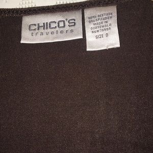 Chico's Travelers Ties Front or Drapes Open Wear